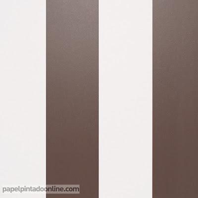 papel pintado rayas marrones y beige ref. 913