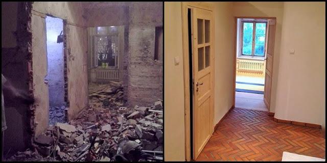 Mieszkanie w trakcie i po remoncie