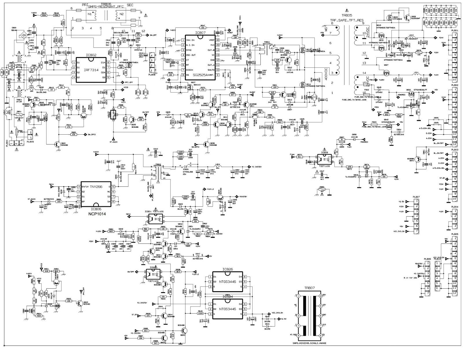 Schematic Diagrams Vestel 17pw