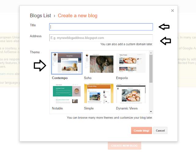 membuat blog baru blogspot
