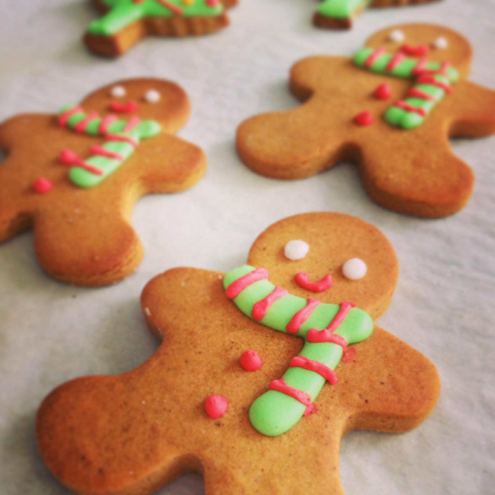 Homemade Gingerbread men cookies