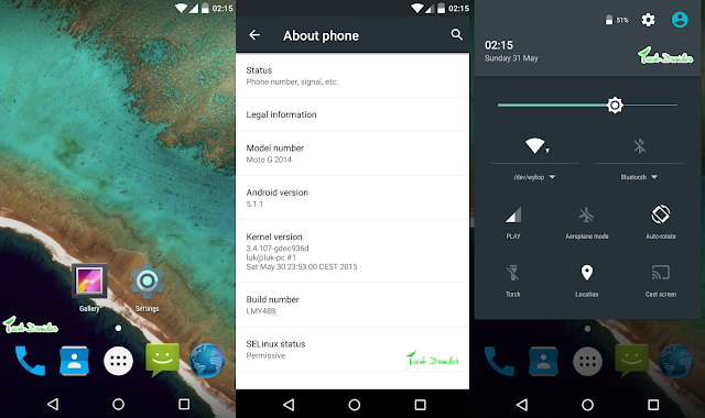 Android 5.1.1 AOSP Rom for Moto G 2nd Generation : How to install