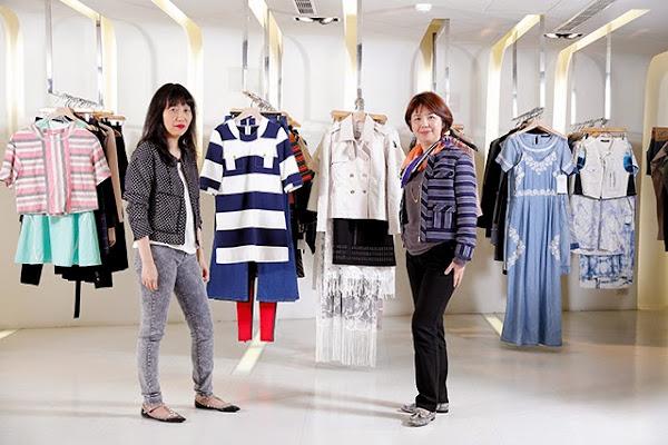 台南企業總經理楊富琴(右)vs.RUE58品牌總監賈雯蘭(左)