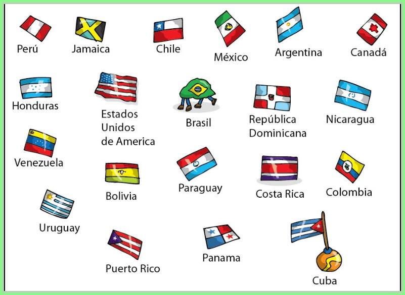 Pintar NiÑos Del Mundo Por Paises Y Banderas: Banderas Delos Paises En Inglés