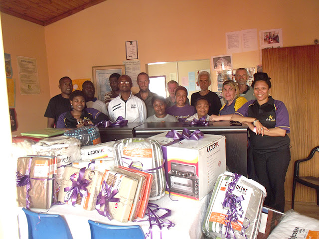 Hollywoodbets Newton Park donated goods to the Herberg Group Home - Port Elizabeth - Social Responsibility Programme