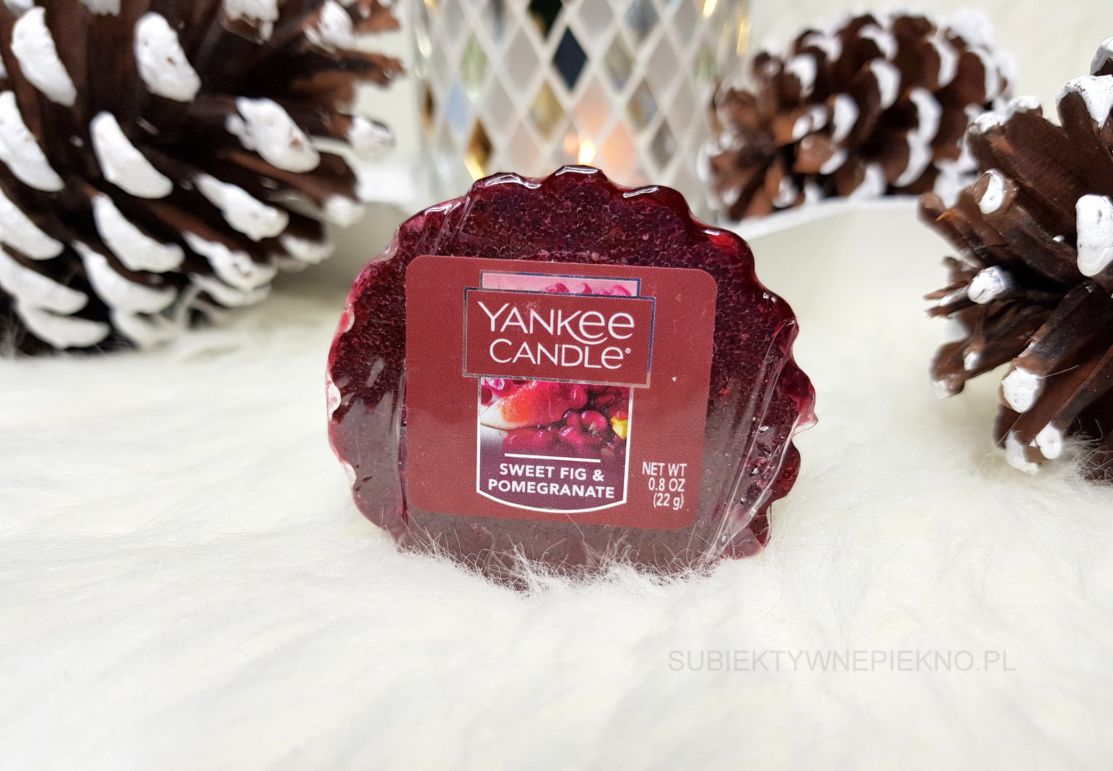 Wosk zapachowy Sweet Fig & Pomegranate Yankee Candle - recenzja, opinie, blog.