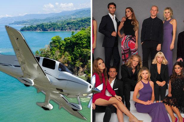 """Membros da produção do reality show """"Made In Chelsea especial na Costa Rica"""" sofreram um acidente de avião, mas passam bem, segundo jornal."""