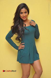 Telugu Actress Prasanthi Stills in Green Short Dress at Swachh Hyderabad Cricket Press Meet  0014.JPG