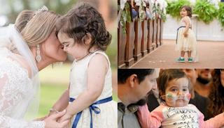 3χρονο κopιτσάκι νίκησε τον καρκίνο και έγινε παρανυφάκι στον γάμο της δότριας μυελού των οστών της
