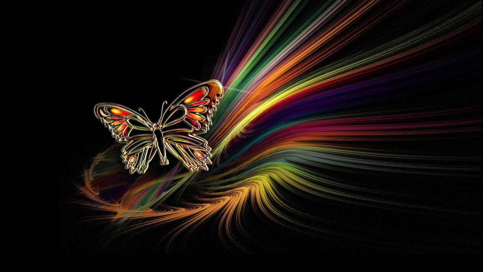 Colorful butterfly hd wallpapers real artistic - Most beautiful dark wallpapers ...