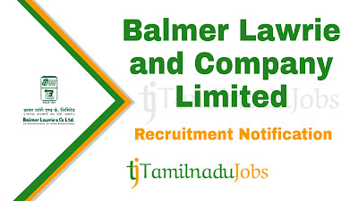Balmer Lawrie Recruitment notification 2019, govt jobs for diploma, govt jobs for graduates