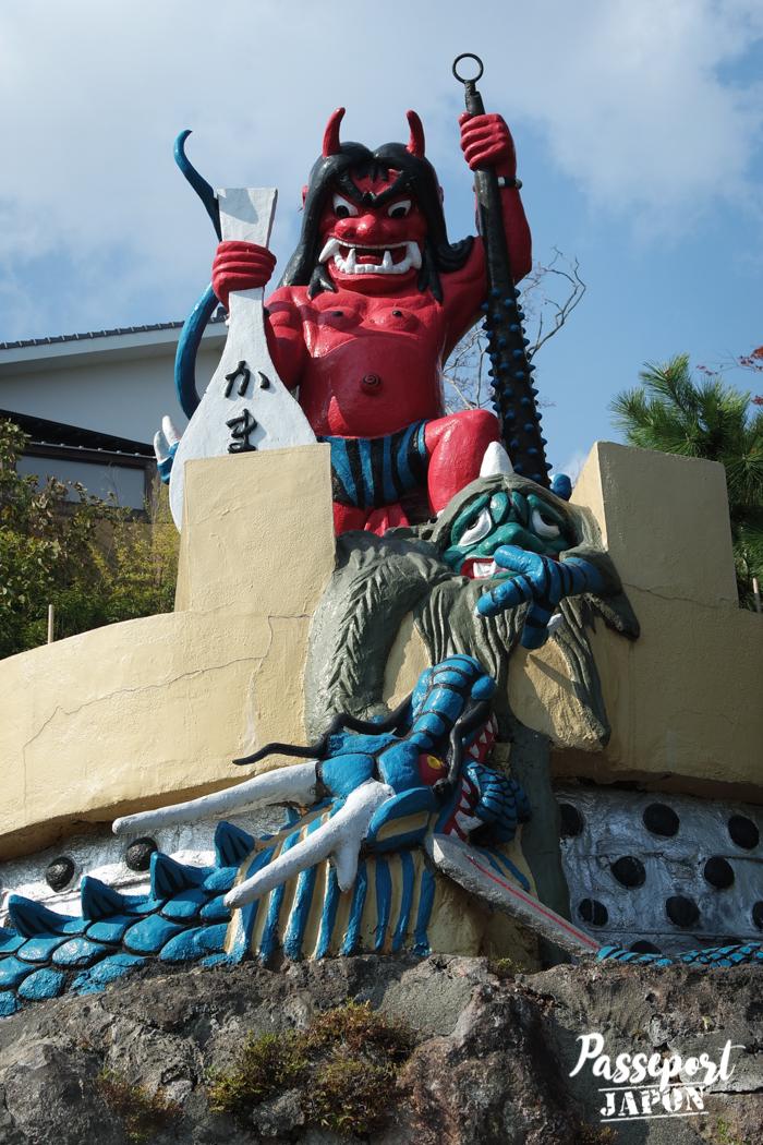 Statue de démon, Kamado Jigoku, Beppu, Oita