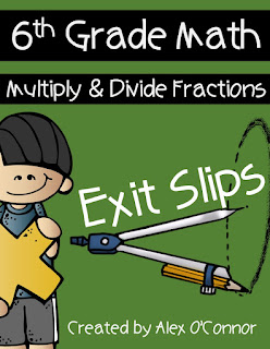 https://www.teacherspayteachers.com/Product/Exit-Slips-Multiplying-and-Dividing-Fractions-6th-Grade-Math-2365117