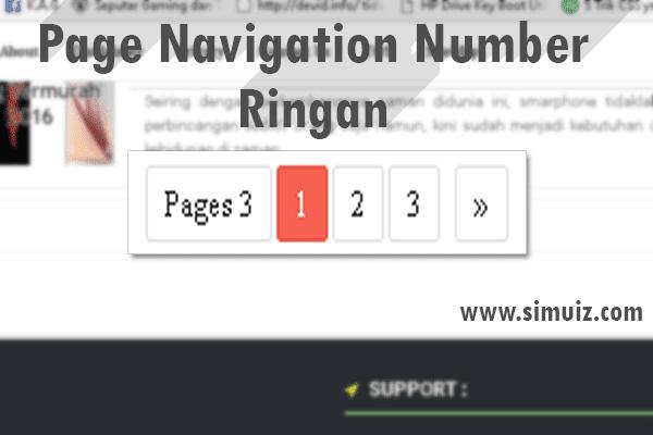 Membuat Page Navigasi Ringan Loading Untuk Blog dan keren flat desain