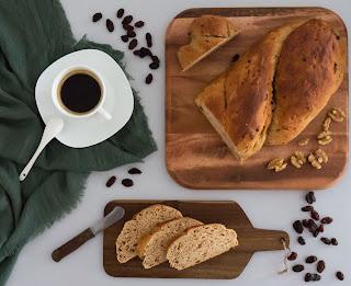 Receta de pan de café con nueces y pasas thermomix