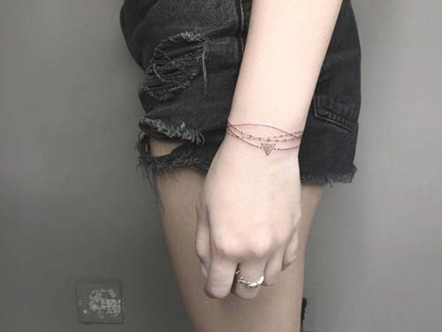 geometrik bilek dövmeleri geometric wrist tattoos for women