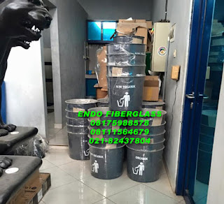 tong sampah single fiberglass