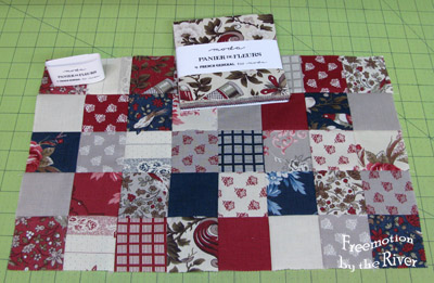 2 1/2 inch squares pieced