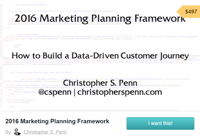 data-driven customer journey and marketing planning framework