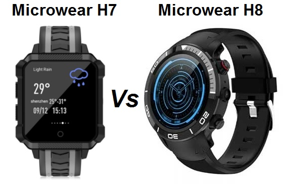 Microwear H7 Vs Microwear H8 SmarWatch Comparison