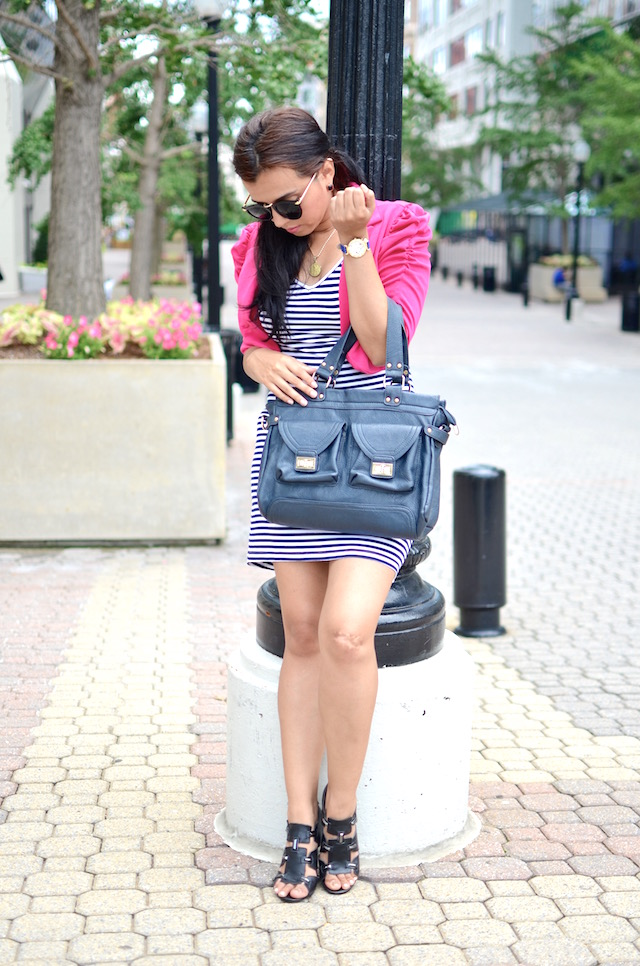 Pink and Navy Stripes