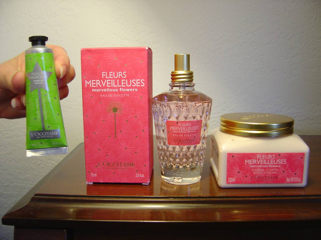 L'Occitane's Marvellous Flowers Eau de Toilette, Body Cream and Hand Cream.jpeg