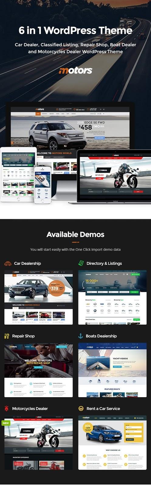 Descargar Motors theme WordPress