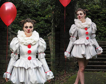 Pennywise from It Girls/ Ladies Costume with Skirt
