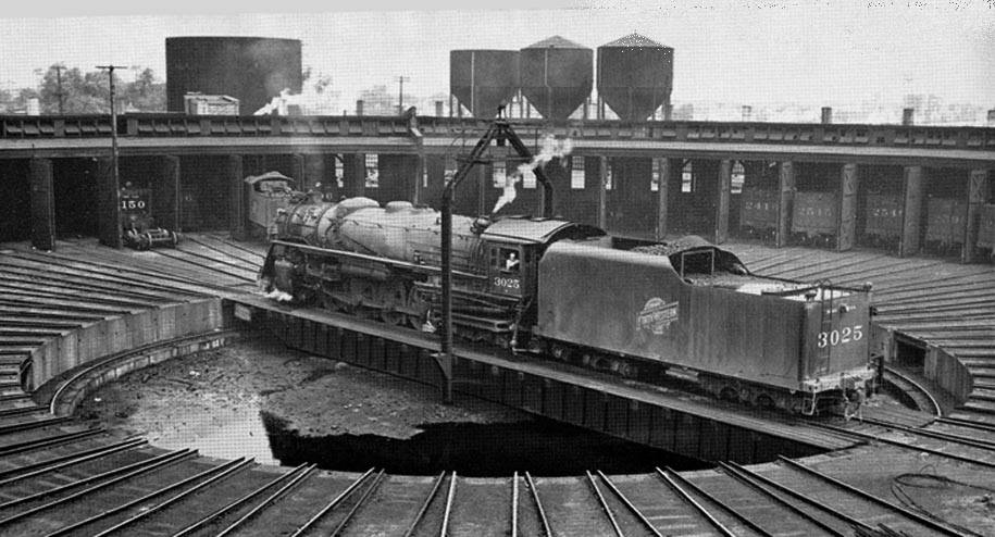 Industrial History CNW\u0027s Proviso Roundhouse, Yard, and Freight House - frieght conductor