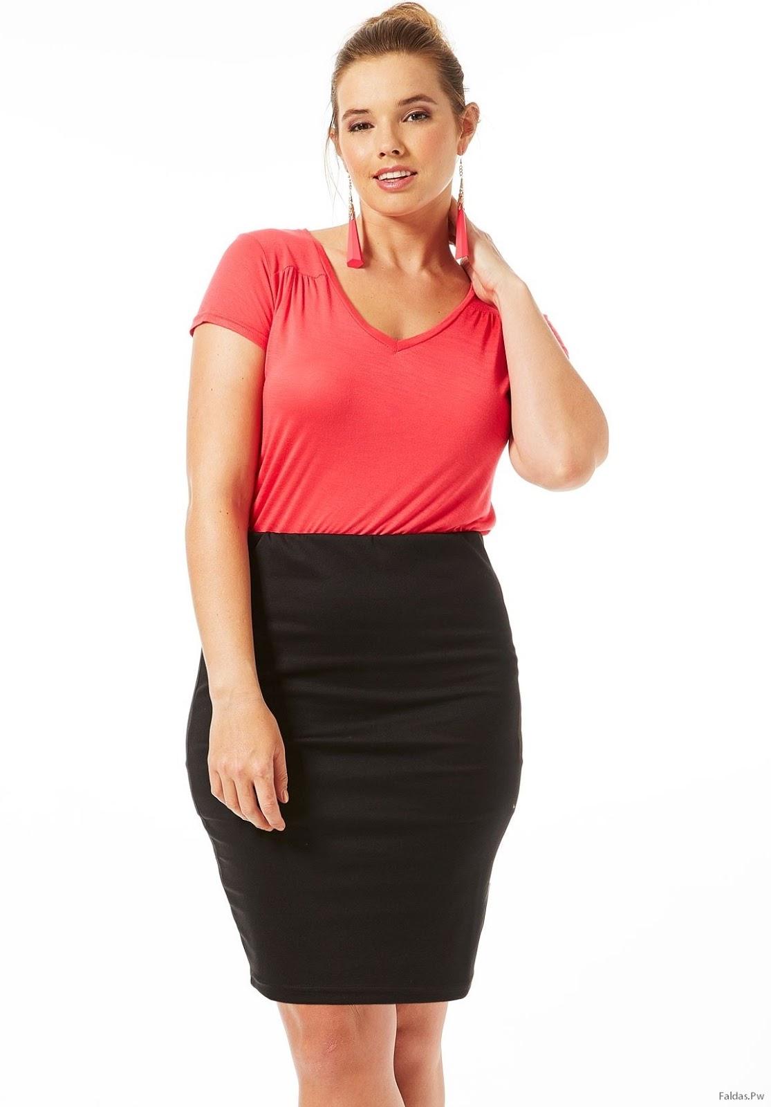 75d40cf6099 Faldas Tubo para Gorditas ¡Increíble Moda para Mujeres! | Faldas ...
