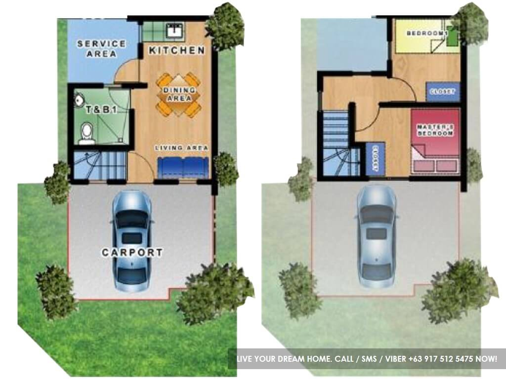 Floor Plan of Tricia - Micara Estates | House and Lot for Sale Tanza Cavite