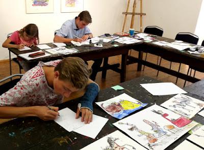 MirRoy Comiczeichenkurs in der Sommerakademie Gmünd in Kärnten