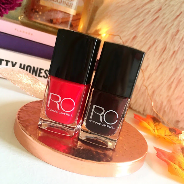 Both Roxanne Campbell nail polishes, to the side