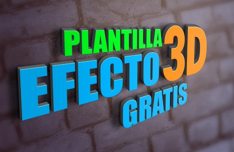 Plantilla Efecto 3d En Photoshop Jhon Urbano
