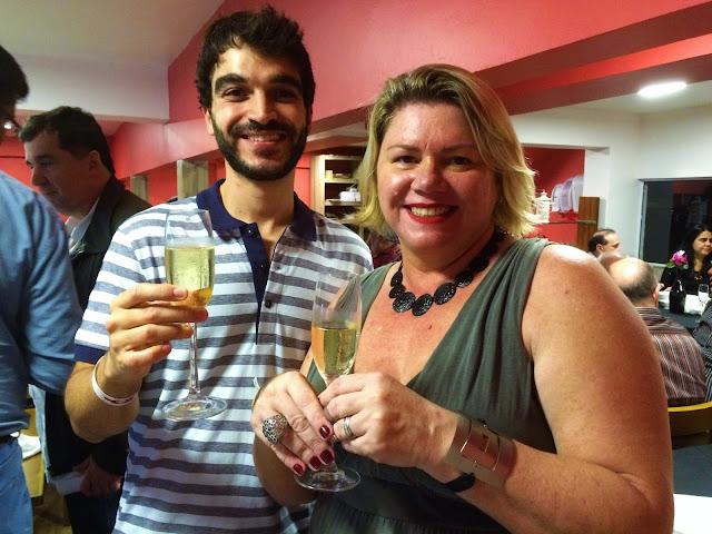Marcelle e Marcelo, na recepção do evento