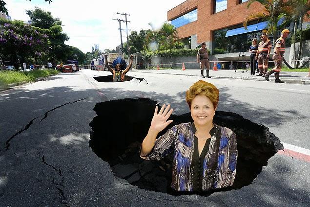 Dilma Rousseff, olha para o buraco negro das finanças do governo