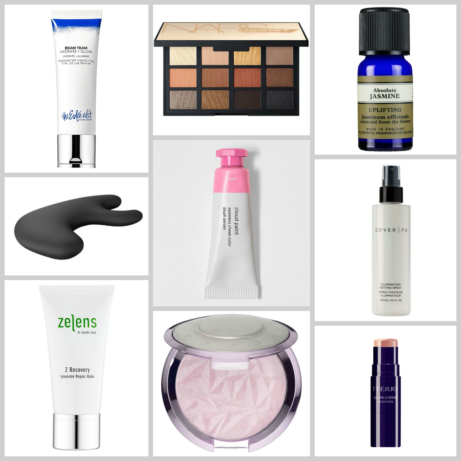 spring beauty wishlist the estee edit beam team nars loaded eyeshadow palette becca prismatic amethyst highlight glossier cloud paints cover fx illuminating setting spray by terry glow expert duo sticks nurse jamie pillow helens z recovery repair balm neal's yard essential oils reviews