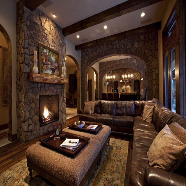 Modern Rustic Living Room Interior Designs Ideas