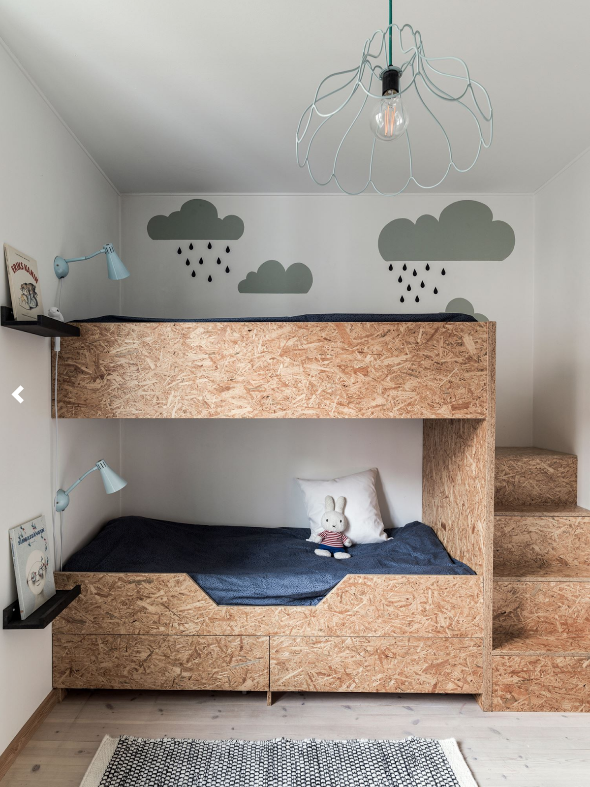 particle board bed in kids room