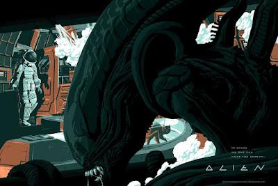 Alien Screen Print by Florey x Bottleneck Gallery x Acme Archives