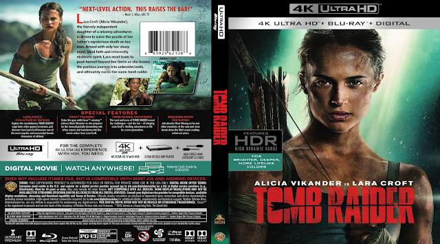 Tomb Raider (scan) 4k Bluray Cover