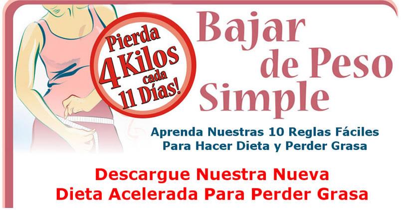 Dietadelas3semanas com dieta para bajar rapido de pesos