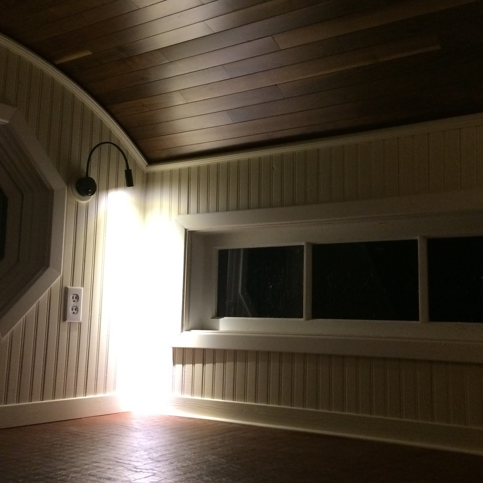 Led Baseboard Lighting Inside We First Installed Some Led Puck Lighting Near The Beds But Found Light Too Bright And Direction Was Wrong So We Replaced Them With Gooseneck Bra Tide Tiny House April 2017 Loft Floor Railing Baseboards