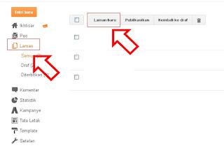 cara membuat menu kontak di blog