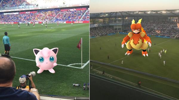 La fiebre de los Pokémon Go invade el fútbol