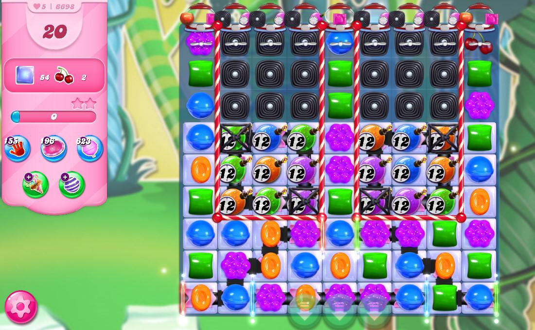 Candy Crush Saga level 6698