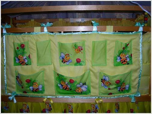 Карманы для детских кроваток. Baby cot organiser