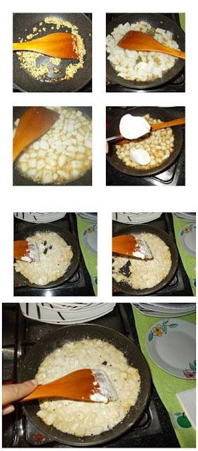 Tiras de pota ao molho de queijo light