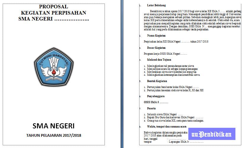 Proposal Kegiatan Perpisahan Sma Tahun 2017