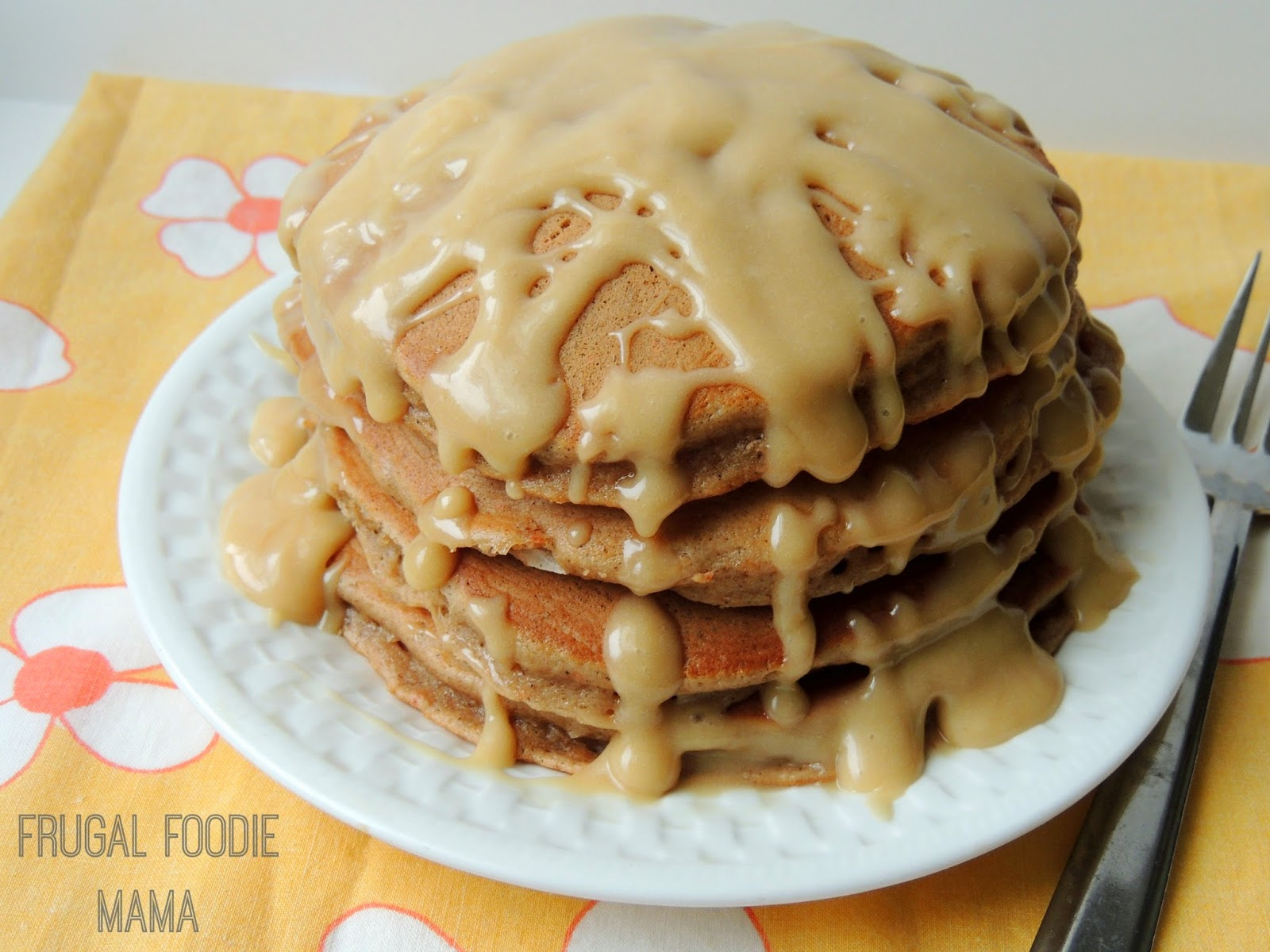 Who says you can't have cake for breakfast? ;) These carrot cake pancakes come together super quick with the help of a boxed mix, leaving you plenty of time to whip up the decadent Biscoff cream cheese glaze to pour over top of these.
